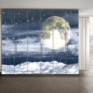 # Αυτοκόλλητο ντουλάπας φεγγάρι - Sticker Box