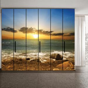 # Αυτοκόλλητο ντουλάπας ηλιοβασίλεμα - Sticker Box