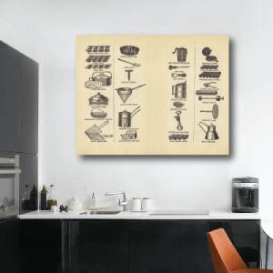 # Πίνακας διάφορα σκεύη για κουζίνα - Sticker Box
