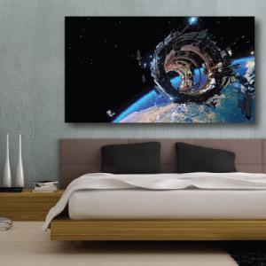 # Πίνακας με δορυφόρο στο διάστημα - Sticker Box