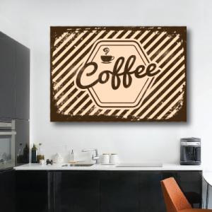 # Πίνακας με καφέ vintage - Sticker Box