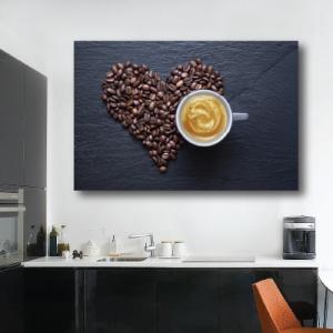 # Πίνακας σε καμβά πρωινός καφές - Sticker Box