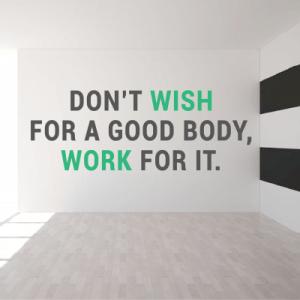 # Αυτοκόλλητο με φράση work for a good body - Sticker Box