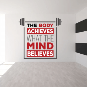# Αυτοκόλλητo με φράση the body achieves - Sticker Box