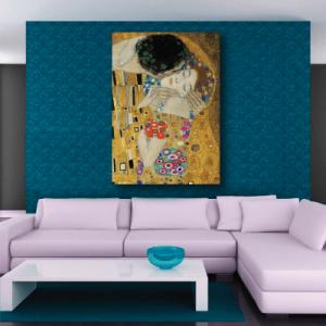 # Πίνακας έργο τέχνης Klimt kiss 2 - Sticker Box