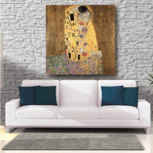 # Πίνακας έργο τέχνης Klimt kiss - Sticker Box