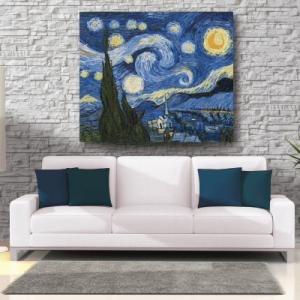 # Πίνακας έργο τέχνης Van Gogh νύχτα με αστέρια - Sticker Box