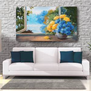# Πίνακας ζωγραφιά με λουλούδια στο παράθυρο - Sticker Box