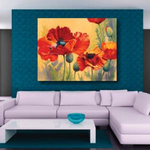 # Πίνακας ζωγραφιά με παπαρούνες - Sticker Box