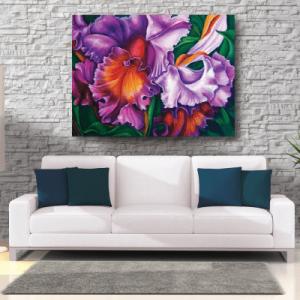 # Πίνακας ζωγραφικής με λουλούδι ορχιδέα - Sticker Box