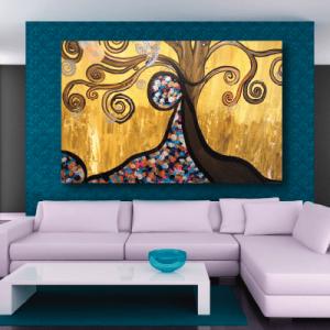 # Πίνακας ζωγραφικής χρωματιστό δέντρο - Sticker Box