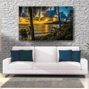 # Πίνακας ηλιοβασίλεμα στην παραλία - Sticker Box