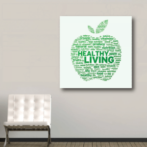 # Πίνακας σε καμβά μήλο - Sticker Box
