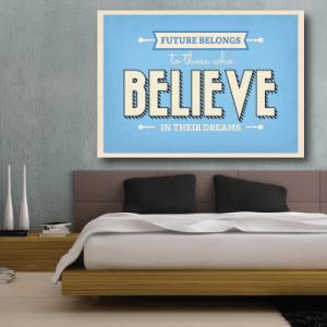 # Πίνακας με φράσεις believe in their dreams - Sticker Box