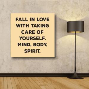 # Πίνακας με φράση care of yourself - Sticker Box