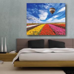 # Πίνακας τοπίο με αερόστατο - Sticker Box
