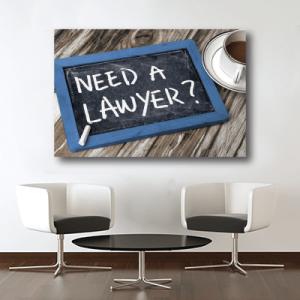 # Πίνακας χρειάζεσαι δικηγόρο - Sticker Box
