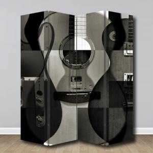 # Παραβάν ασπρόμαυρο με κιθάρες - Sticker Box