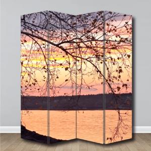 # Παραβάν δέντρο στο ηλιοβασίλεμα - Sticker Box