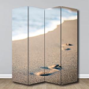 # Παραβάν με άμμο στην παραλία - Sticker Box
