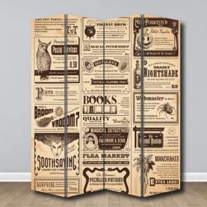 # Παραβάν με εφημερίδα vintage - Sticker Box