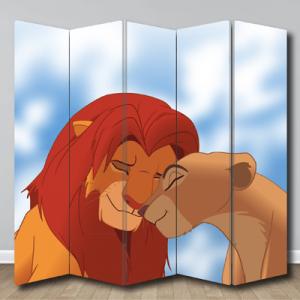 # Παραβάν με λιοντάρια - Sticker Box