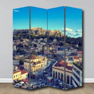 # Παραβάν με λόφο της Ακρόπολης - Sticker Box