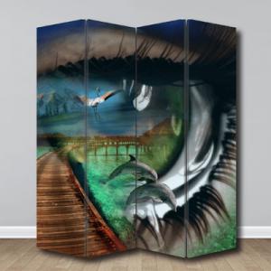 # Παραβάν με σύγχρωνη τέχνη - Sticker Box