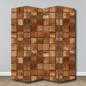 # Παραβάν με υφή ξύλου - Sticker Box