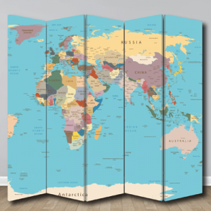 # Παραβάν με χάρτη - Sticker Box