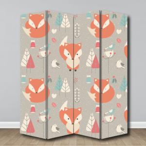 # Παραβάν μοτίβο αλεπού - Sticker Box