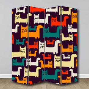 # Παραβάν μοτίβο γάτες - Sticker Box