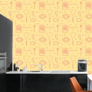 # Ταπετσαρίες με σκεύη κουζίνας - Sticker Box