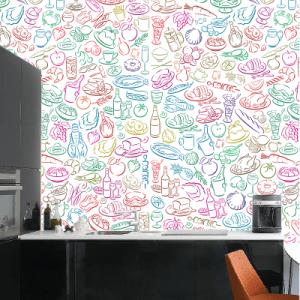 # Ταπετσαρίες με υλικά κουζίνας - Sticker Box