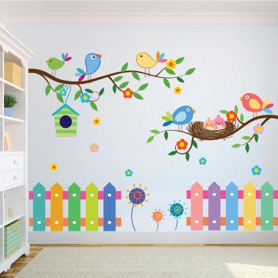 Αυτοκόλλητο τοίχου πουλιά στα κλαδιά