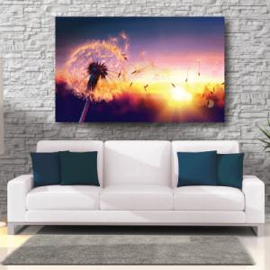 # Πίνακας με λουλούδι και ηλιοβασίλεμα - Sticker Box