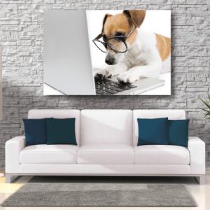 # Πίνακας με σκύλο προγραμματιστή - Sticker Box