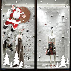 # Αυτοκόλλητο Άγιος Βασίλης και χιόνι - Sticker Box
