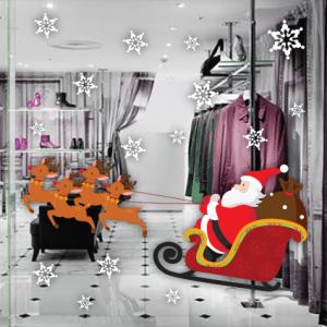 # Αυτοκόλλητο Άγιος Βασίλης σε έλκυθρο - Sticker Box