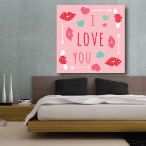 # Πίνακας I love you - Sticker Box