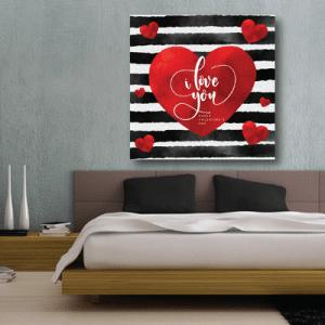 # Πίνακας σε καμβά I love you - Sticker Box