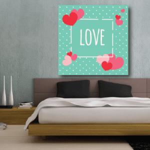 # Πίνακας σε καμβά Love - Sticker Box