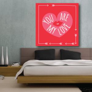 # Πίνακας You are my love - Sticker Box