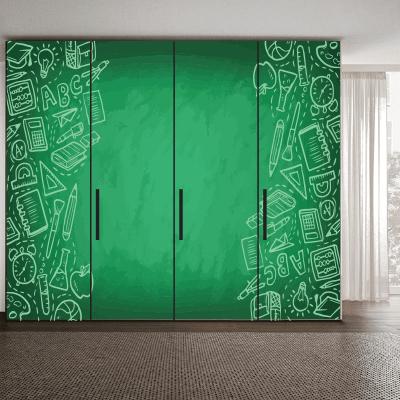 # Αυτοκόλλητο ντουλάπας φροντιστηρίου - Sticker Box