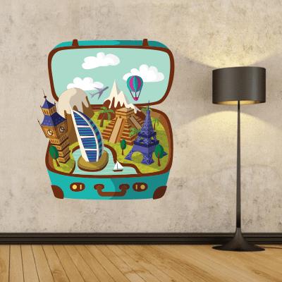 # Αυτοκόλλητο για ταξιδιωτικά γραφεία - Sticker Box