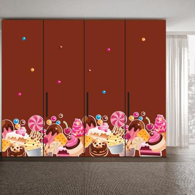 # Αυτοκόλλητο ντουλάπας για ζαχαροπλαστεία - Sticker Box