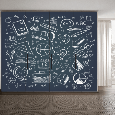 # Αυτοκόλλητο ντουλάπας μαυροπίνακας με σχέδια - Sticker Box