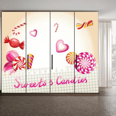 # Αυτοκόλλητο ντουλάπας με ζαχαρωτά - Sticker Box