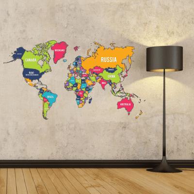 # Αυτοκόλλητο παγκόσμιος χάρτης - Sticker Box