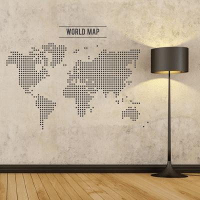 # Αυτοκόλλητο τοίχου χάρτης - Sticker Box